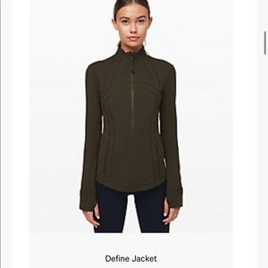 Lululemon Define Jacket - Dark Olive Size 14